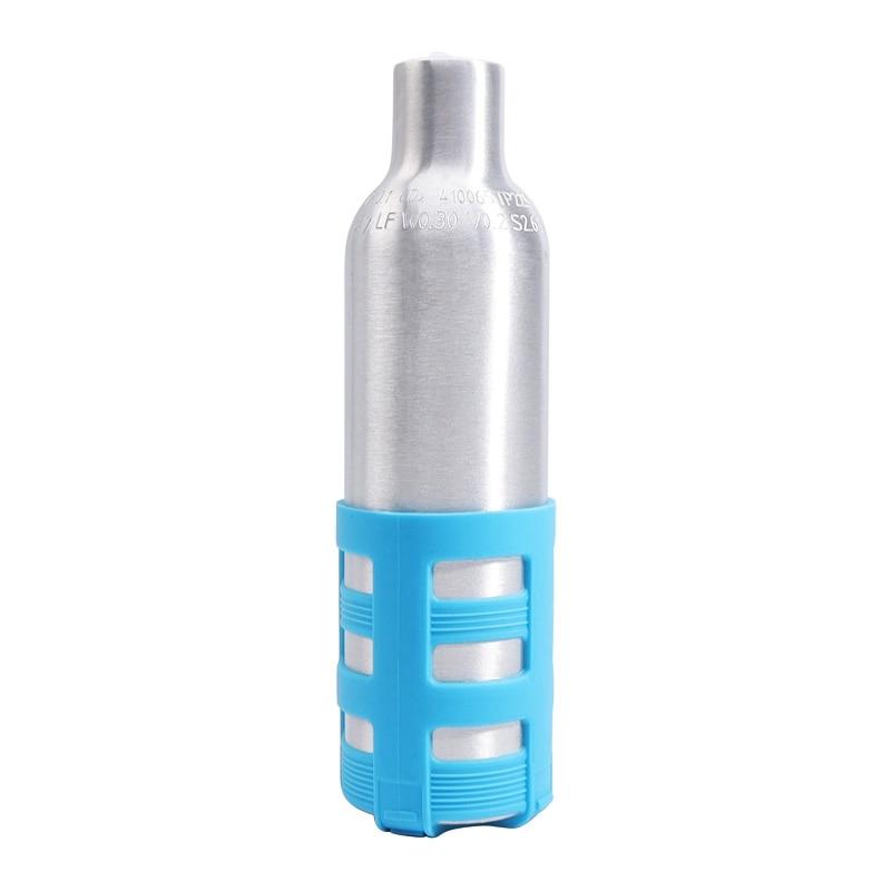 0.2L الأسود آلة توزيع المياه الغازية القابلة لإعادة الملء زجاجة مياه غازية الغيار القابلة لإعادة الاستخدام CO2 اسطوانة ملحق لآلات الصودا