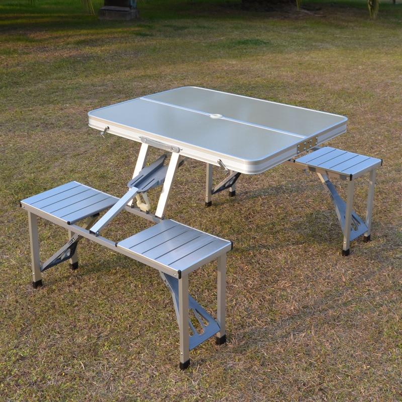 في الهواء الطلق طاولة قابلة للطي كرسي التخييم سبائك الألومنيوم نزهة الجدول مقاوم للماء دائم طاولة قابلة للطي مكتب للتخييم طاولة الشاطئ