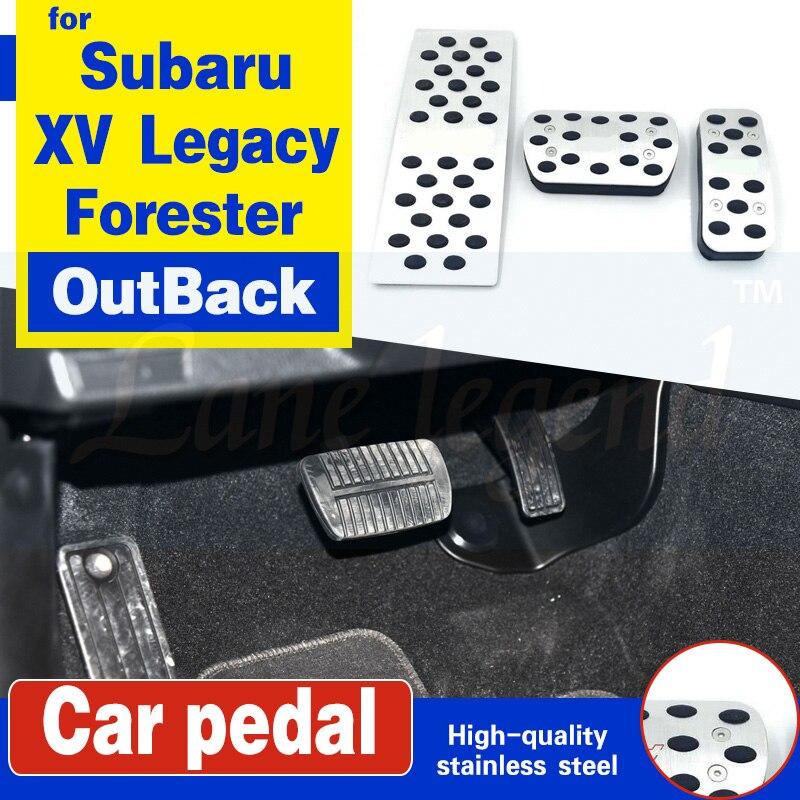 Auto cubierta de acelerador de freno Almohadilla de Pedal para reposapiés para Subaru XV Legacy Forester interior Tribeca Levorg WRX STI Impreza a