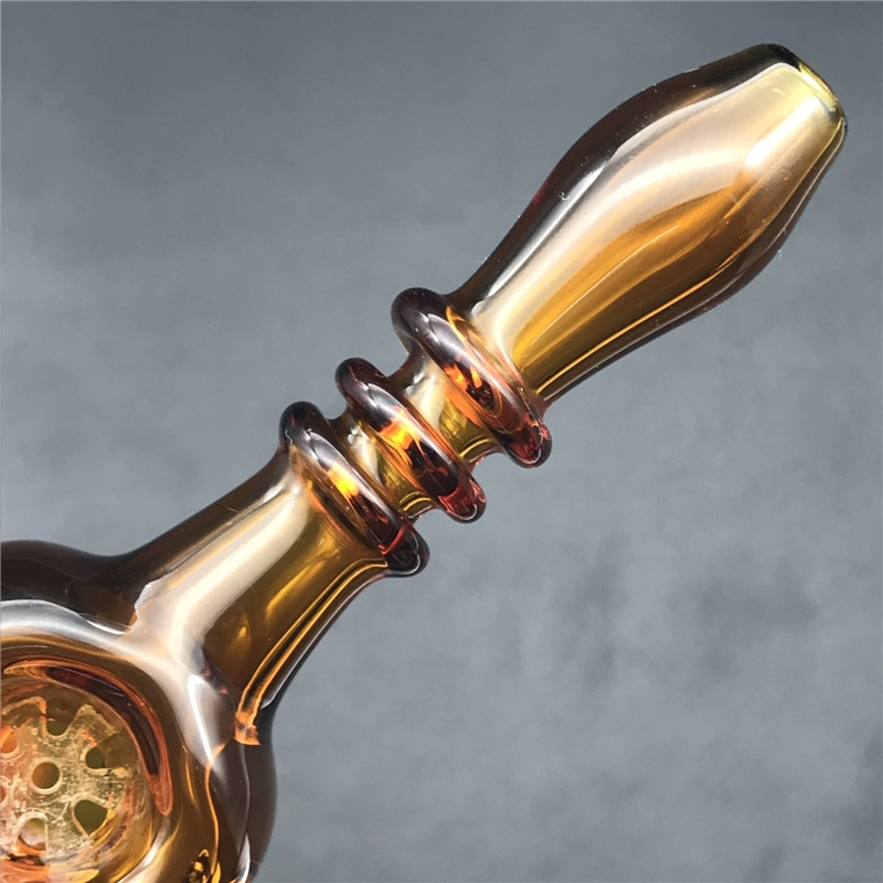 Glass Hand Pipes with Snowflake Bubbler Pyrex  Smoking Water Pipes enlarge