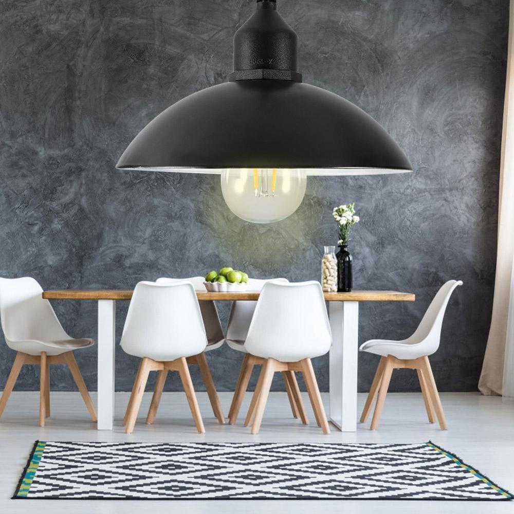 Металлический абажур на солнечных батареях подвесной светильник E27 лампа наружная Подвесная лампа для дома и сада с лампочкой