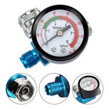 Digital Air Manometer Spray Gun & 1/4 zoll HVLP Kompressor 140PSI