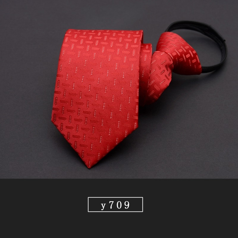 High Quality 2019 New Fashion Ties Men Formal Suit Zipper 7cm Blue Red Black Tie Wedding Party Neckties Designers with Gift Box