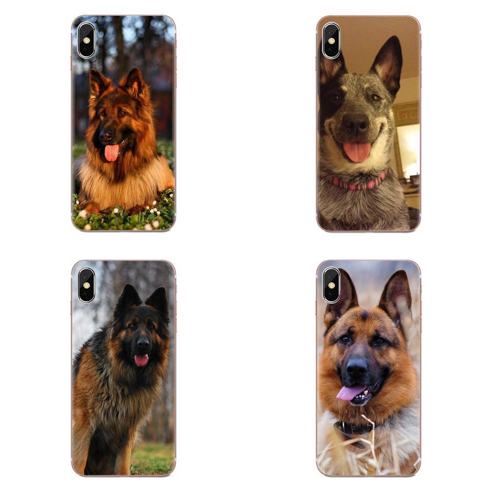Divertido perro pastor alemán carcasa para Galaxy Nota 10 A10E A10S A20S A30S A40S A50S A6S A70S A730 A8S M10S M30S Lite Plus