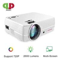 Mini projecteur puissant avec prise en charge du lecteur multimedia 720P  3D  pour Home cinema  jeu Android  synchronisation sans fil  affichage pour telephone