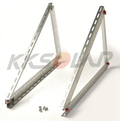 100 w/150 w painel solar triângulo ajustável de alumínio painel solar suporte de montagem do telhado
