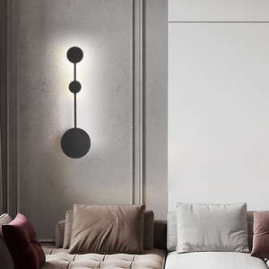 Nordic wall light Iron LED minimalist wall light Living Room Bedside Gold Indoor Luminaire Industrial decorative wall lamp
