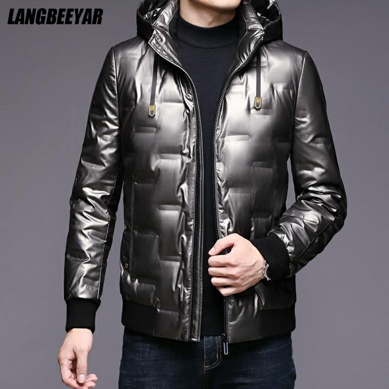 High Quality Winter New Brand Casual Fashion Shiny Bubble Quilted Coat Men Windbreaker Jacket Puffer Coats Men Clothing 2021