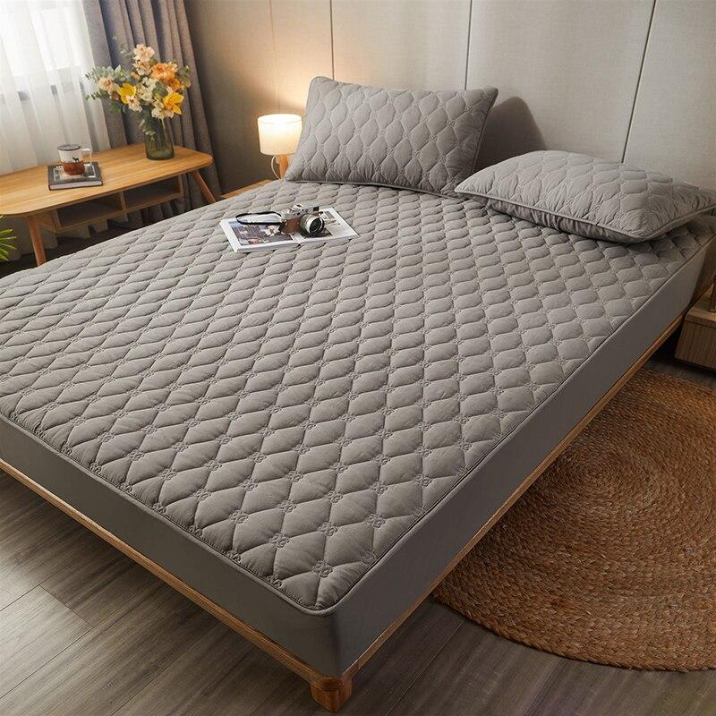 زيادة بلون غطاء سرير غطاء مرتبة قابل للغسل تنفس غطاء السرير تنقش أغطية الفراش المتضخم