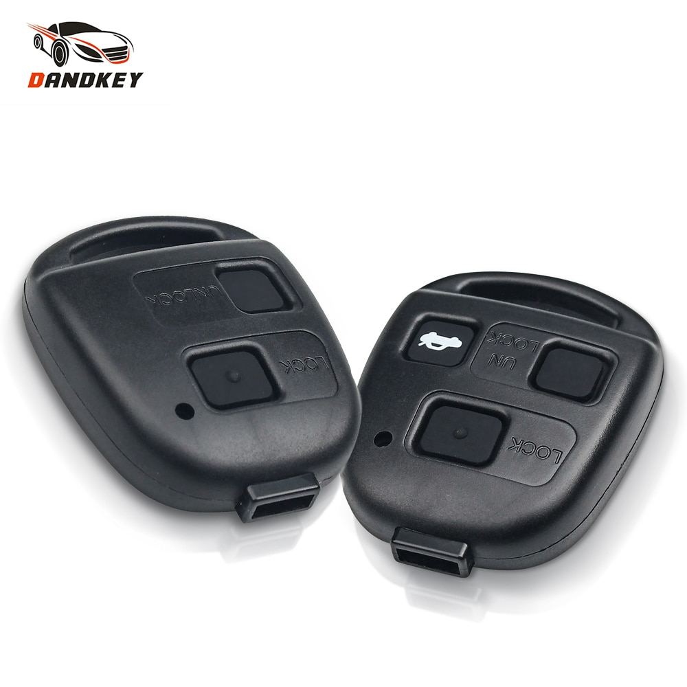 Dandkey 2 3 Buttons With Pad Remote Car Key Shell No Logo Case For Toyota RAV4 Prado Corolla Land Previa Celica For Lexus GS300