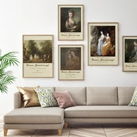 vintage thomas gainsborough famous portrait posters and prints canvas painting wall art pictures for bedroom home gallery decor
