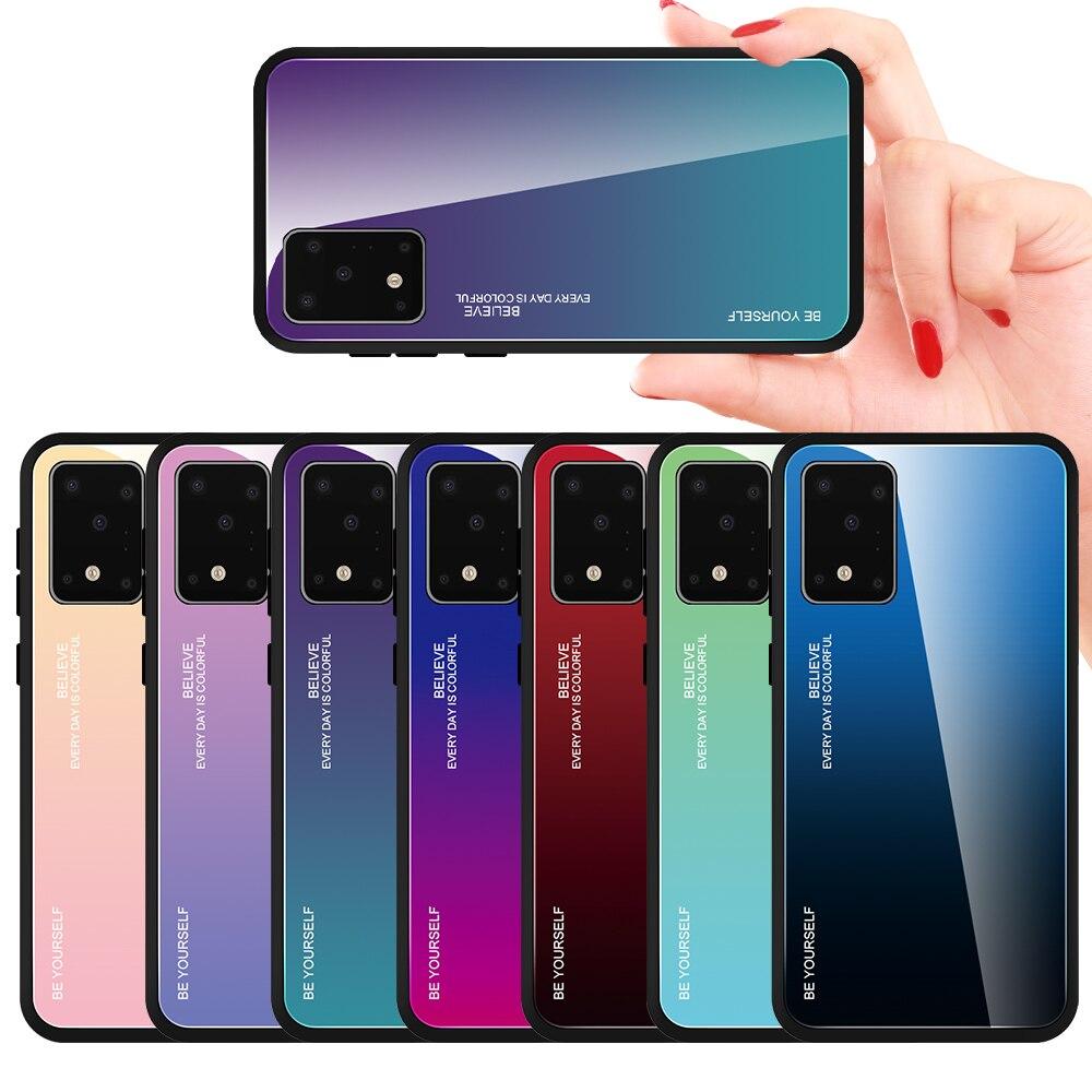 Funda de vidrio degradado para Samsung Galaxy S10e S11e S10 S11 Plus fundas de vidrio templado fundas teléfono carcasa para Samsung S11 Plus