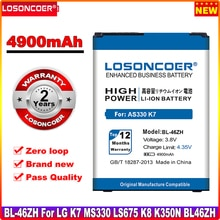LOSONCOER 4900mAh BL-46ZH Batterie Pour LG K7 K8 AS330 K332 K350N K371 K373 K89 LS675 LS675 M1 M1V MS330 US375 X210 BL 46ZH