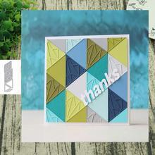 Metal Cutting dies Prismatic background Die Scrapbooking Paper Craft Handmade Card Punch Art Cutter Decorative Stencil