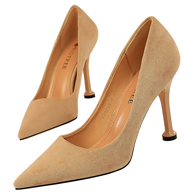 2020 kobiet 9.5cm wysokie obcasy zielono-brązowy OL pompy luksusowe eleganckie buty na obcasie Lady Qualiy Scarpins ślub Plus rozmiar 43 buty