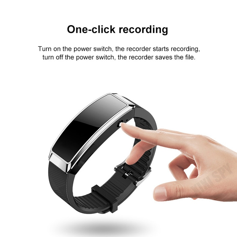 Voice recorder bracelet activated dictaphone mini audio sound professional small player micro digital listening recording enlarge