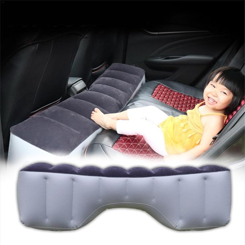 Inflatable Car Travel Mattress Bed Rear Seat Air Mattress for car PVC Cushion Car Travel Bed Camping Auto Interior Car Bed