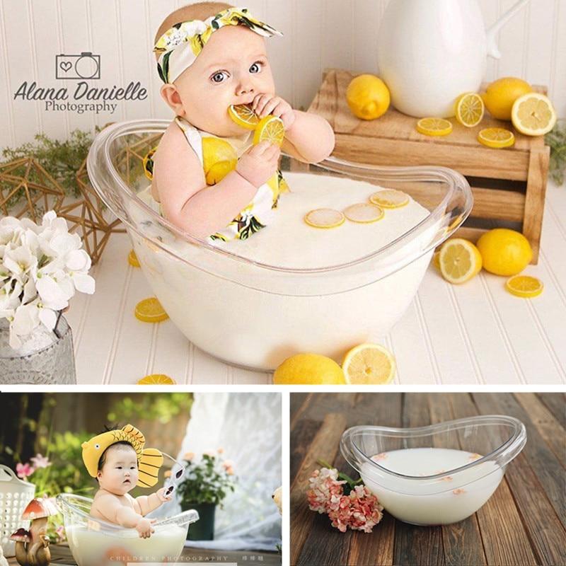 Baby Photography Furniture Transparent Bathtub Newborn Props Bath Barrel For 0-12 Months Boy Girl Photo Accessories Decoration