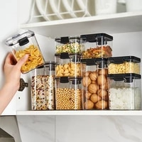 kitchen fresh keeping sealed can food grade plastic sealed box household transparent storage can refrigerator storage box