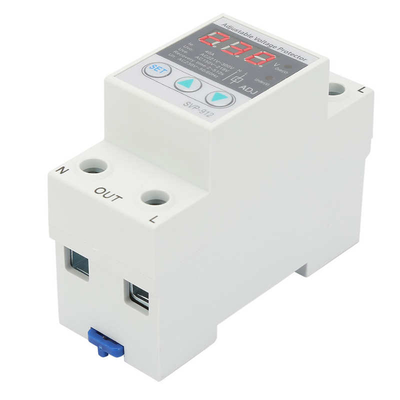 Undervoltage Overvoltage Protector 230VAC 50/60Hz Voltage Reconnect Device High-Rise Buildings Hospitals for Automation Systems