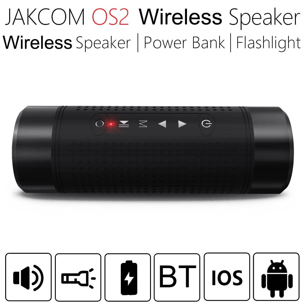 JAKCOM-مكبر صوت بلوتوث لاسلكي OS2 ، 5200 مللي أمبير ، للاستخدام في الهواء الطلق ، عمود مقاوم للماء ، محمول ، موسيقى ، جهير ، مصباح LED ، بنك طاقة