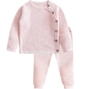 Baby Spring and Autumn Sweater Set Boys and Girls Knitwear Set Warm Pure Cotton Sweater Two-Piece Knitwear