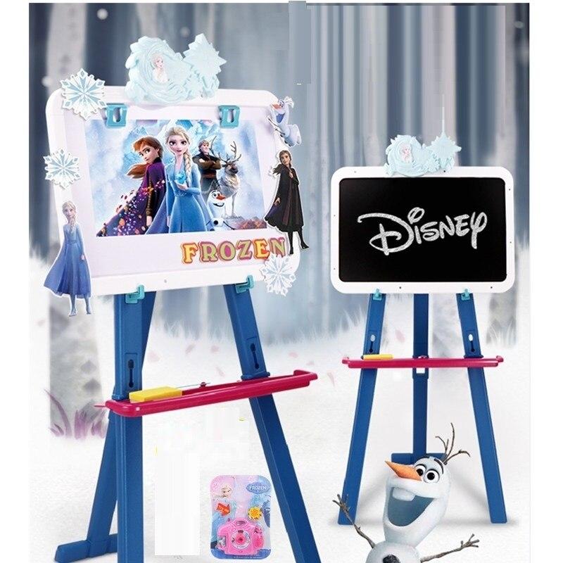 Disney Frozen 2 Princess Children Drawing Board Double-sided Magnetic Support Blackboard Graffiti Study Educational Toys M5416