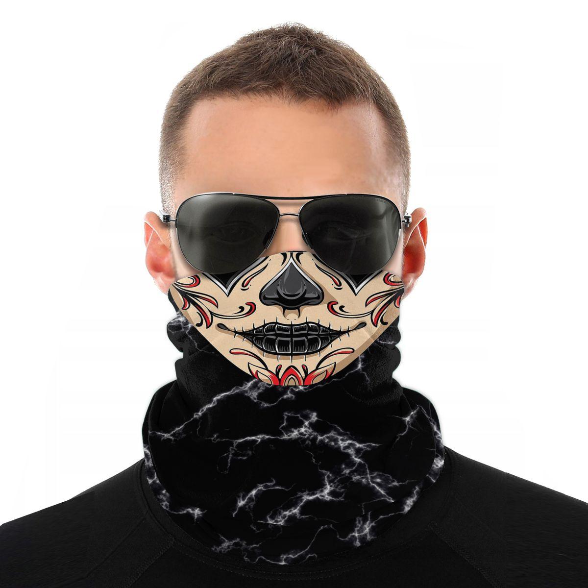 Bufanda de calavera mágica de La Catrina, máscara de media cara, máscara de Halloween, bufanda de tubo, Bandanas sin costuras, diadema a prueba de polvo, senderismo al aire libre