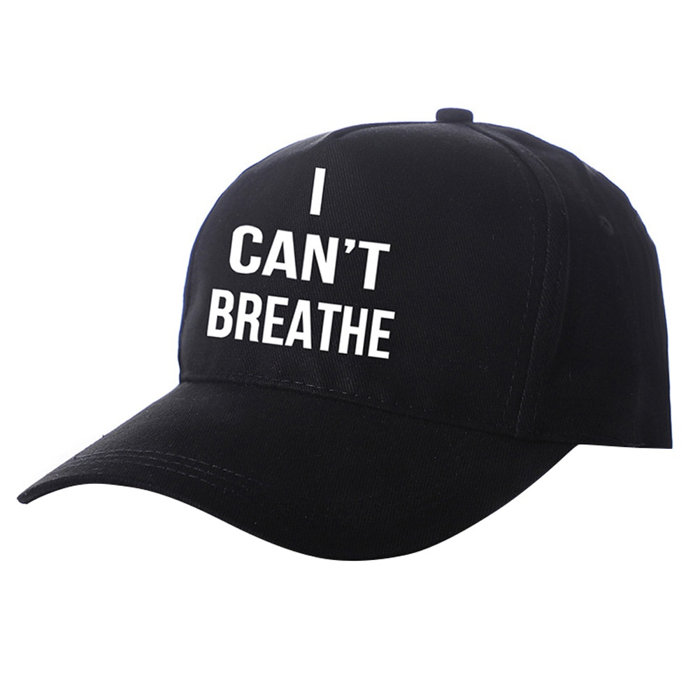 Boné de beisebol masculino feminino i cant breath cap chapéu protesto blm preto vidas matter bonés macio confortável respirável unisex