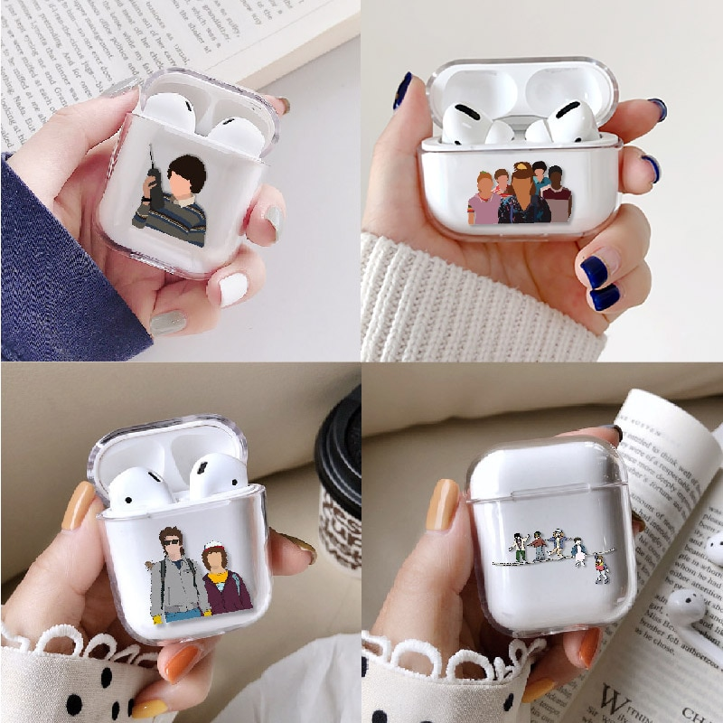 Чехол для наушников Stranger Things Eleven для Apple iPhone, зарядная коробка для AirPods Pro, жесткий прозрачный защитный чехол, аксессуары