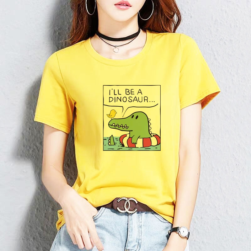 BGtomato divertida camiseta de dibujos animados original marca casual top tees lovely cartoon camiseta cocodrilo mujeres