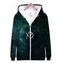 Canadese zanger De Weeknd Abel Makkonen Tesfaye 3D print Rits hooded sweater Mannen/Vrouwen Casual Rits kleding
