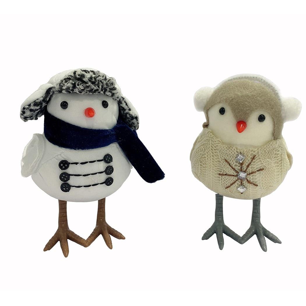1 шт. искусственные милые желтые и белые птицы, рождественские украшения, украшения для елки, Рождественское украшение, украшение для птицы