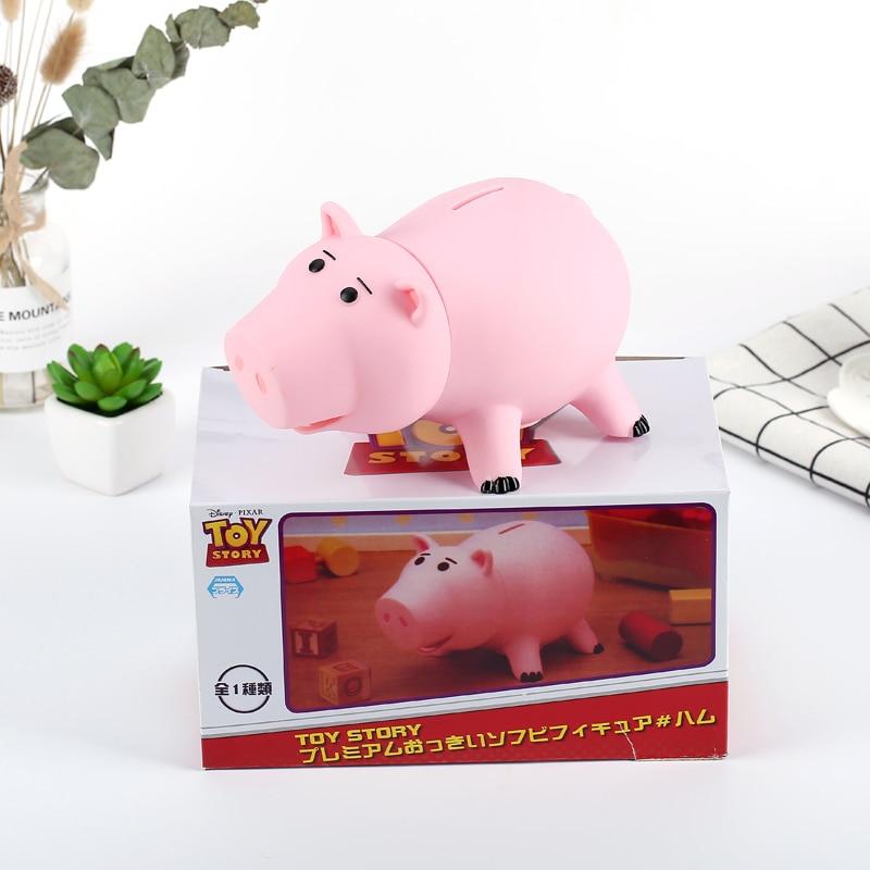 ¡Oferta! Hucha de juguete Hamm de 20cm, hucha de cerdo rosa, caja de monedas de PVC, figuras de acción de juguete para niños, hucha de regalo
