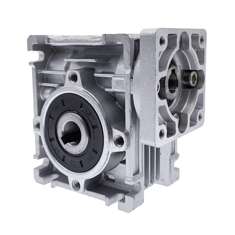 علبة تروس دودية المحرك RV030 ، مخرج 14 مللي متر 5:1-80:1 ، مخفض سرعة المحرك لـ NEMA 23