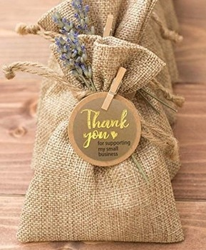 500pcs Thank You for Supporting My Samll Business Kraft Paper 6