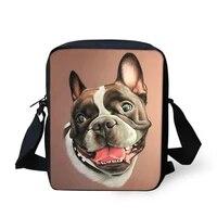 flaps messenger bags small cute women bags little bulldogs prints pattern girls crossbody bag fashion shoulder purses
