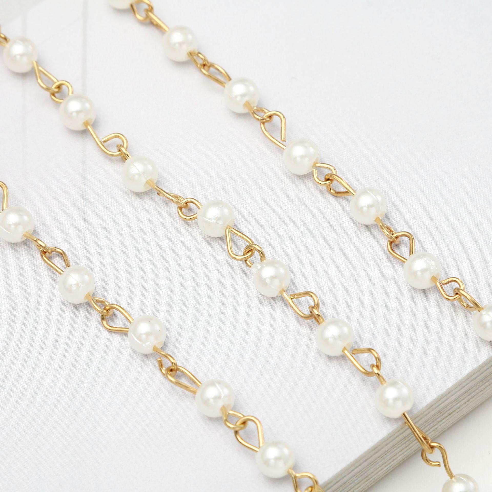 Fashion Women Simulated Pearls Reading Glasses Chain Sunglasses Chain Eyewear Holder Neck Strap Rope Lanyards Boho Necklace