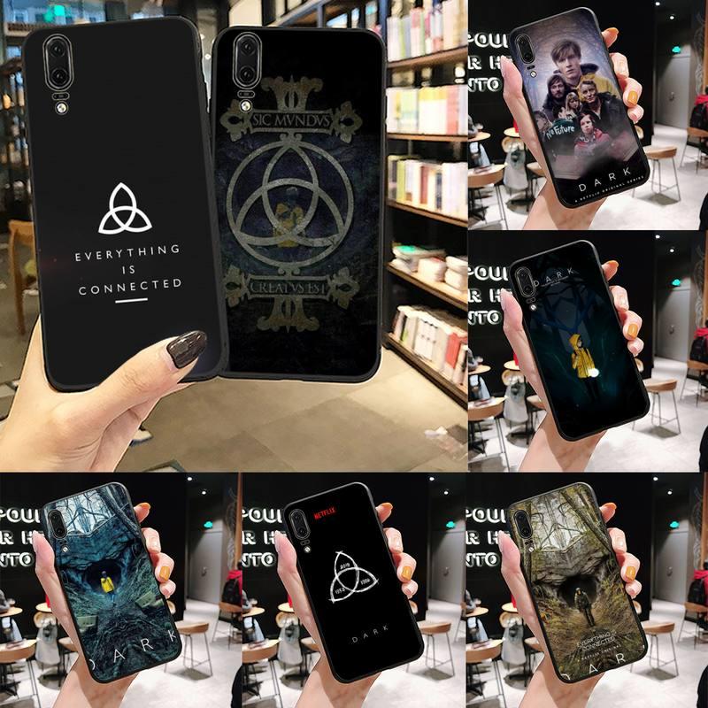 Dark Netflix, Funda de lujo para teléfono móvil con horror TV de Alemania, Funda para Huawei P9 P10 P20 P30 Lite 2016 2017 2019 plus pro P inteligente