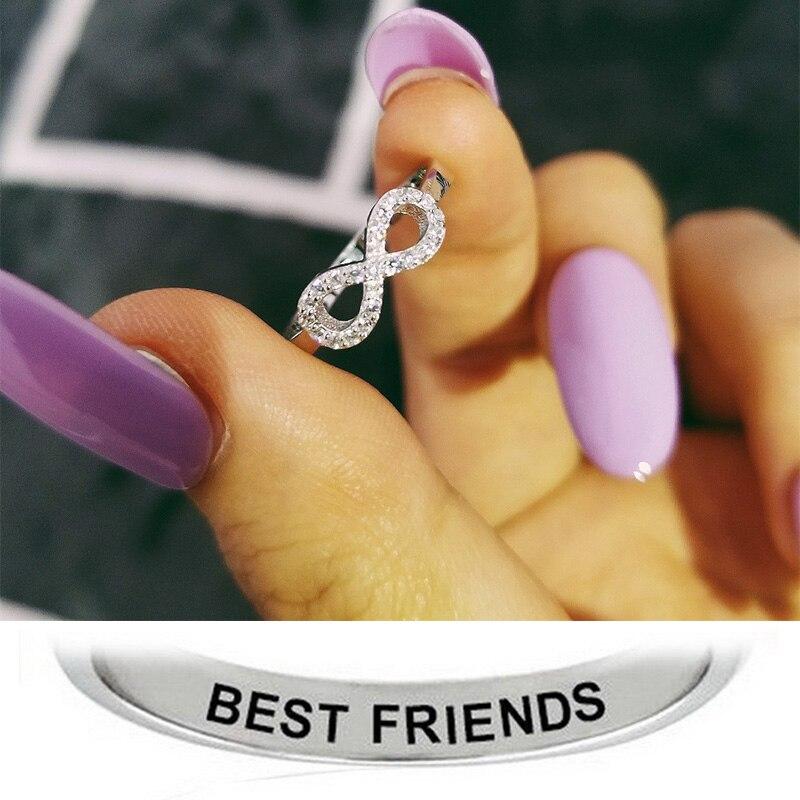 أفضل العاهرات صديق شقيقة الأسود المزاج عيد الحب خاتم الخطوبة الموضة للنساء فتاة فضة 925 مجوهرات R4411S