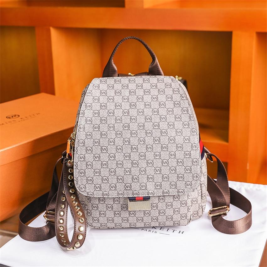 Vintage Womens Laptop Backpack Big Capacity Bag for Women Leather Travel Shoulder Backpacks Girl School Bags Top Handle Bags