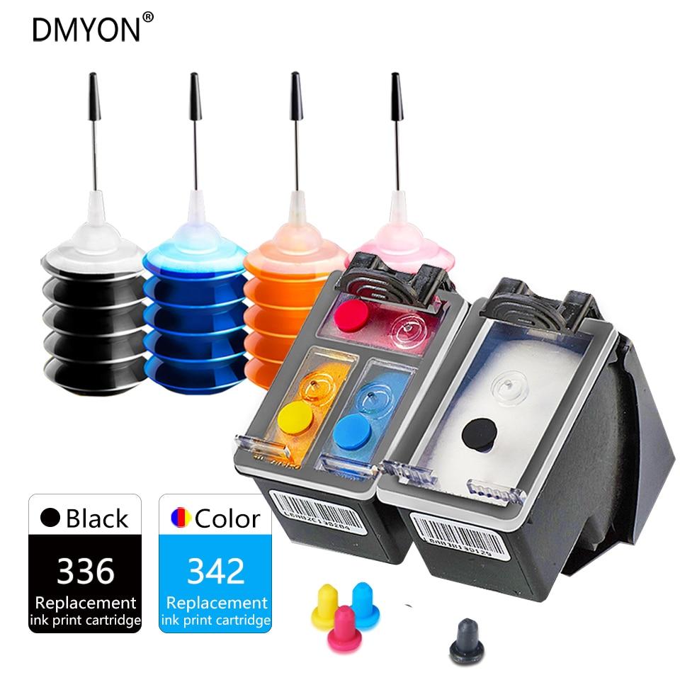 DMYON 336 342 cartucho de tinta Compatible para HP 336 de 342 para PSC1500 1510 C3100 C3180 D5420 6310 C3100 C3110 C3125 C3135 impresora