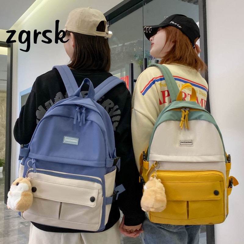 Женские Классические черные школьные ранцы от известного бренда в стиле преппи для подростков рюкзаки с Usb-разъемом рюкзак Plecak