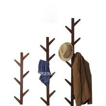 JP150420 Creativo Vestiti Sacchetti di Albero In Legno Massello Appendiabiti A Muro Soggiorno camera Da Letto Decorazione Della Parete del Gancio Cappello Albero Cremagliera