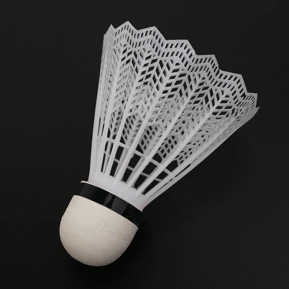 100% Brand New and High Quality 12Pcs White Badminton Plastic Shuttlecocks Indoor Outdoor Gym Sports Accessories недорого