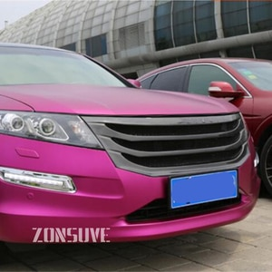 Use For Honda Crosstour 2011 2012 Year Carbon Fibre Refitt Front Center Racing Grille Cover Accessorie Body Kit Zonsuve