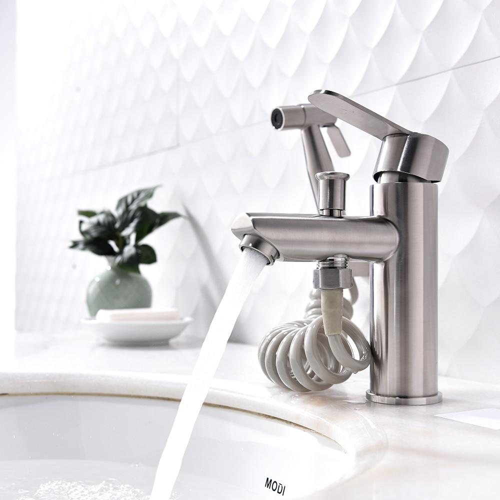بالوعة الحمام صنبور بسيط الخارجية تمتد بيديت تمديد المنزلية يده زائد غسل فوهة مجموعة