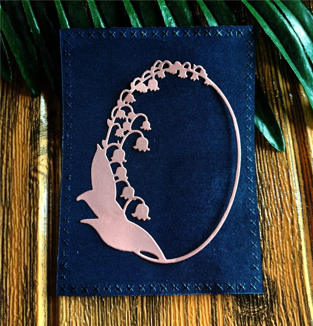 Lily of The Valley marco Metal troqueles de corte artesanía Scrapbooking confección de álbumes o tarjetas