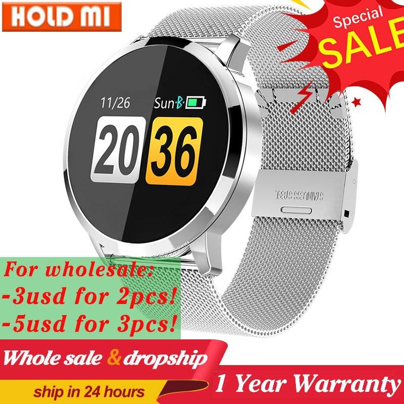 Q8/Q8 più Intelligente Orologio Schermo A Colori OLED Articoli Elettronica Smart, Smartwatch, Bracciali Smart Fitness Inseguitore di Fitness Frequenza Cardiaca Della Vigilanza di Modo Smartwatch Bluetooth pk L8