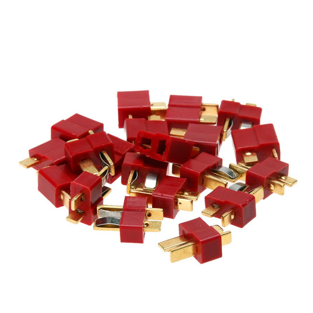 10pairs T-Plug RC Lipo Battery Helicopter Helicopter Connectors Male Female for  Battery RC Car Part